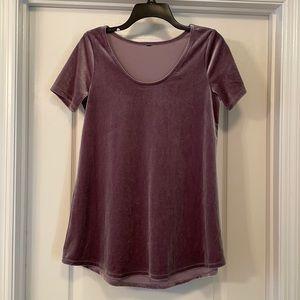 Purple Velvet Shirt